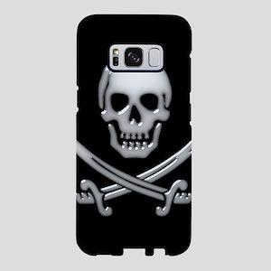 Glassy Skull and Cross Swor Samsung Galaxy S8 Case