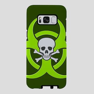 Green Biohazard Skull Samsung Galaxy S8 Case