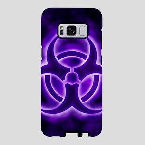 Purple Biohazard Symbol Samsung Galaxy S8 Case