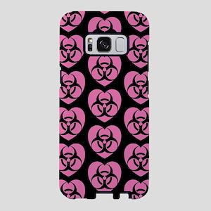 Pink Biohazard Heart Pattern Samsung Galaxy S8 Cas