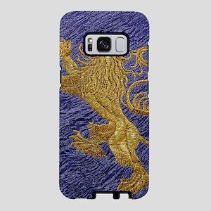 Rampant Lion - gold on blue Samsung Galaxy S8 Case