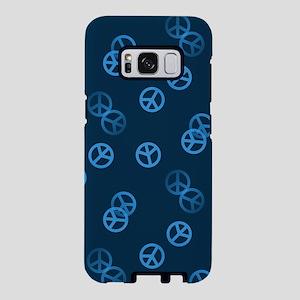 Random Blue Peace Sign Samsung Galaxy S8 Case