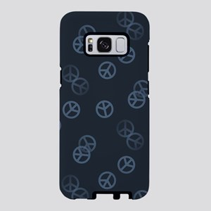 Gray Peace Sign Pattern Samsung Galaxy S8 Case