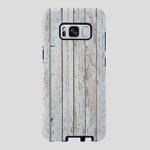 shabby chic white barn wood Samsung Galaxy S8 Case
