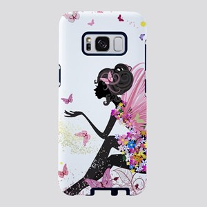 Whimsical Pink Flower Fairy Samsung Galaxy S8 Case