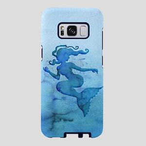 Blue Watercolor Mermaid Samsung Galaxy S8 Case