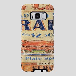 beach seafood vintage crab Samsung Galaxy S8 Case