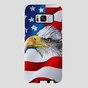 Bald Eagle On American Flag Samsung Galaxy S8 Case