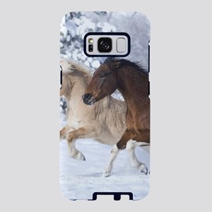 Horses Running In The Snow Samsung Galaxy S8 Case