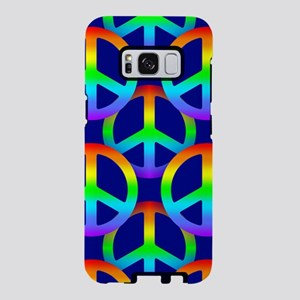 Rainbow Peace Sign Pattern Samsung Galaxy S8 Case