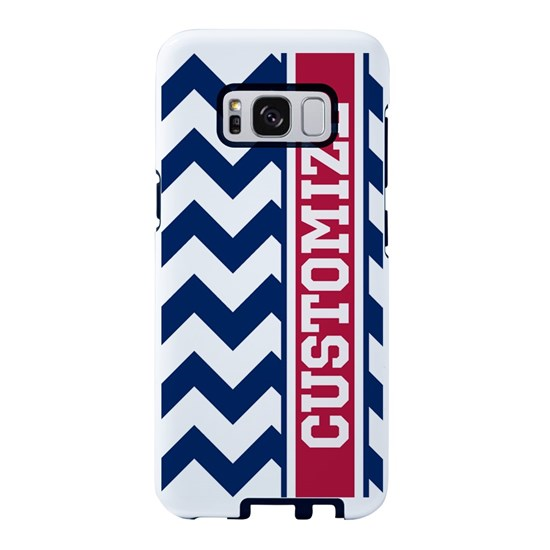 Personalized Red White and Blue Chevron