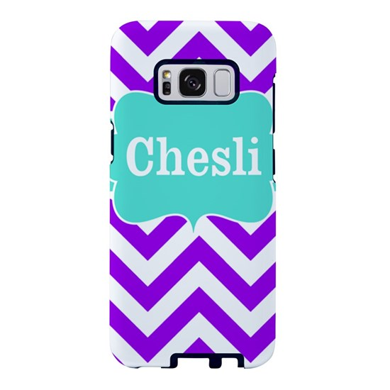 Purple Teal Chevron Personalized