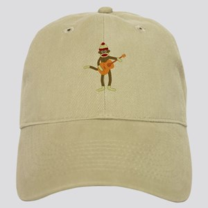 Sock Monkey Guitar Player Cap