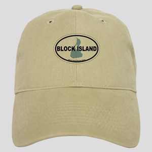 Block Island RI - Oval Design. Cap