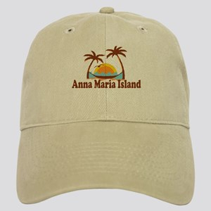 Anna Maria Island - Palm Trees Design. Cap