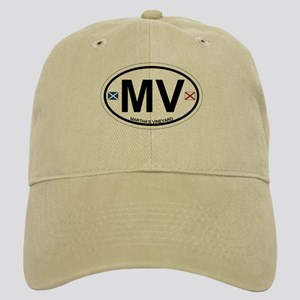 Martha's Vineyard MA - Oval Design. Cap