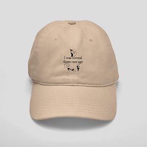 Three Cats Ago Humorous Baseball Cap