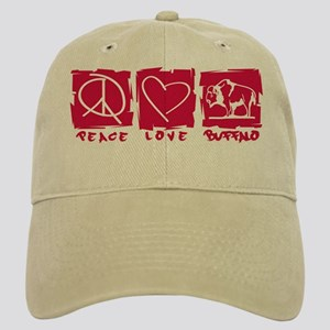 Peace.Love.Buffalo Cap