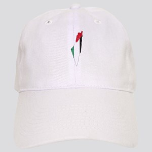 Palestine Flag And Map Cap