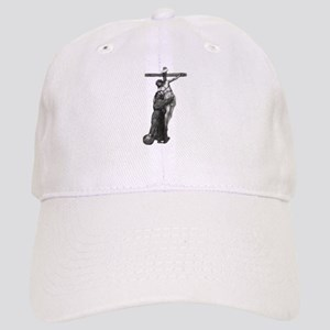 St. Francis Embraces Jesus on Cross #3 Cap