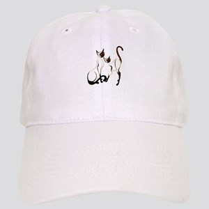 Two Siamese Cats Cap