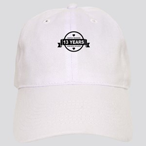 Happily Married 13 Years Baseball Cap