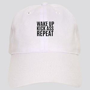 Wake Up Kick Ass Repeat Baseball Cap