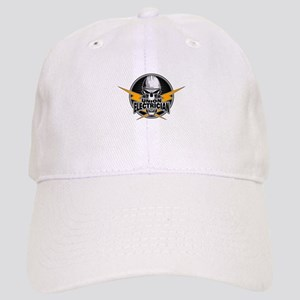 Union Electrician Skull Baseball Cap
