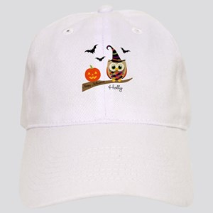 Custom name Halloween owl Cap
