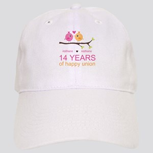 14th Anniversary Personalized Cap