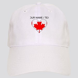 Custom Canada Flag Heart Baseball Cap