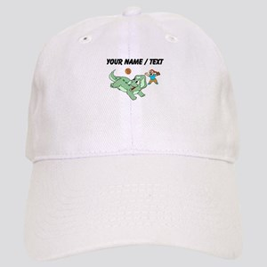 Custom Dinosaur And Boy Baseball Cap