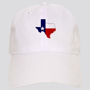 Texas Flag on Texas Outline Cap