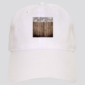 shabby chic lace barn wood Cap
