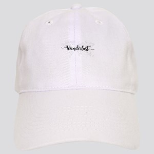 Wanderlust geometric world map Cap