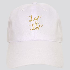 Live For Love Gold Faux Foil Metallic Motivati Cap