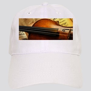 Violin On Music Sheet Cap