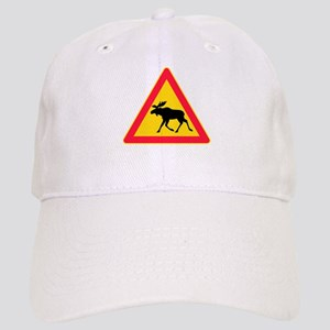 Moose Crossing Road Sign Cap