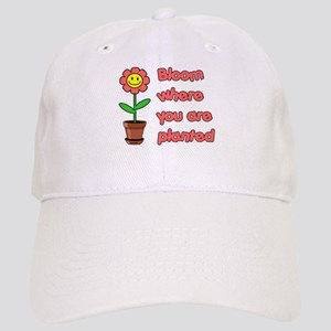 Bloom Where U R Planted Cap