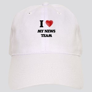 I Love My News Team Cap