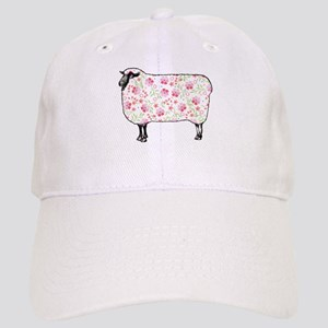 Floral Sheep Baseball Cap