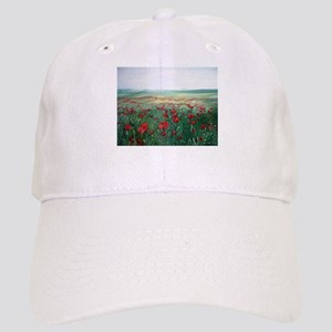 poppy poppies art Cap