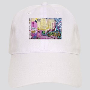 Neon Yellow & Pink Graffiti Cap