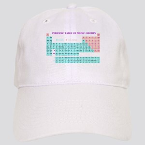 Periodic Table of Music Groups Baseball Cap