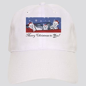Merry Christmas Westies Cap