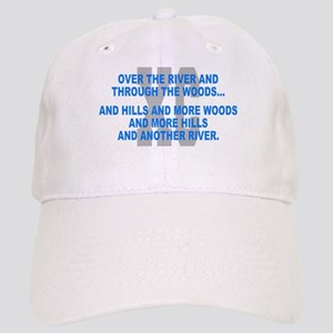 Over the River Cross Country Quote Baseball Cap