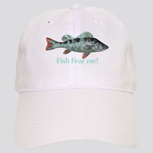 Fish Fear Me Humorous Fisherman Quote Baseball Cap