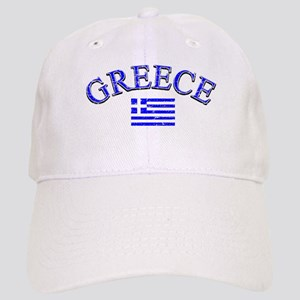 Greece Soccer Designs Cap