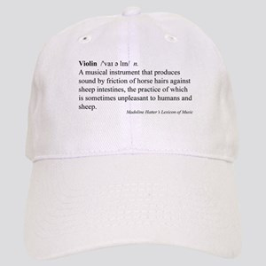 Humorous Violin Definition Cap