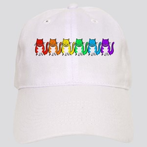 Happy Rainbow Cats Cap